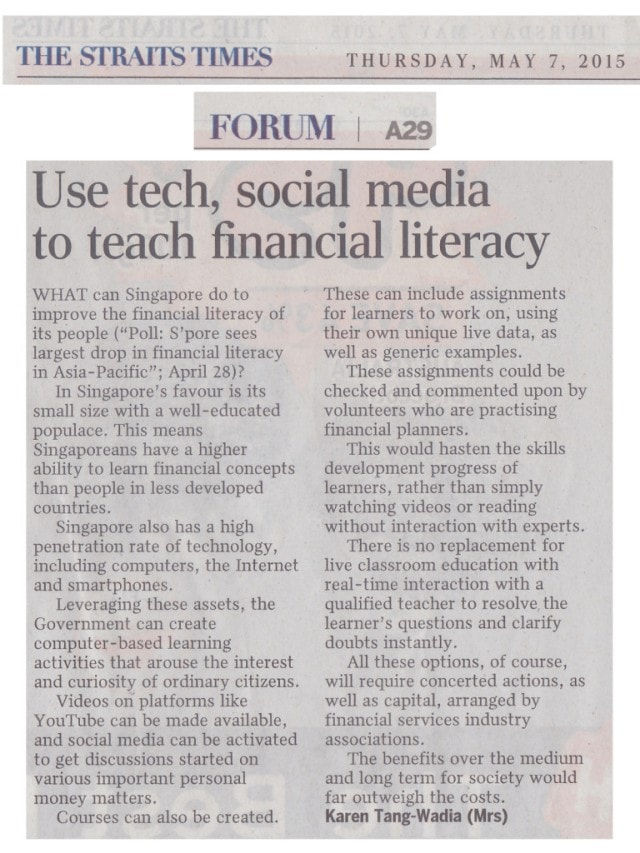 Financial Literacy in Singapore